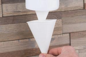 Vienreizējās lietošanas papīra konusa glāzes