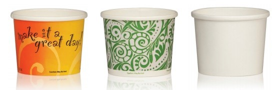 Paper Food Containers with a Protected Rim for To-Go Delivery