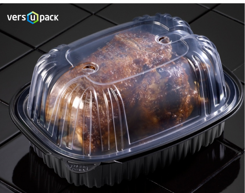 Disposable Turkey Size Roaster Pan with Anti-Fog Coating