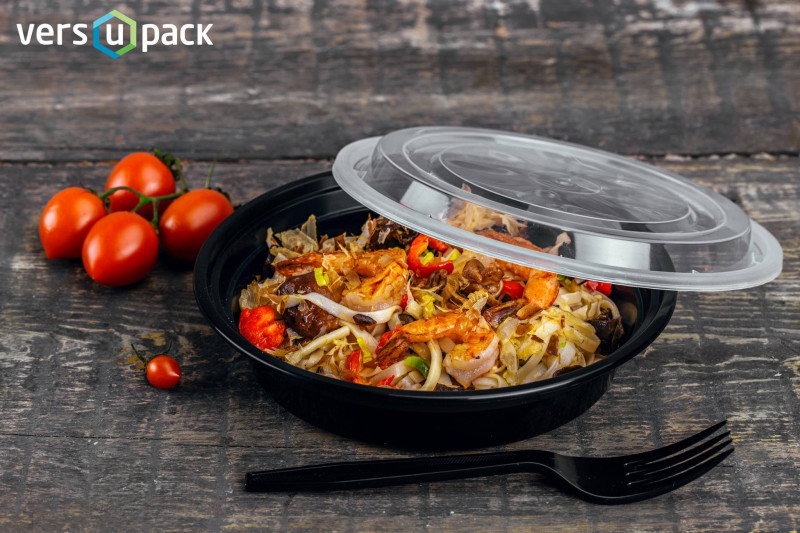 Disposable leak proof food take away containers