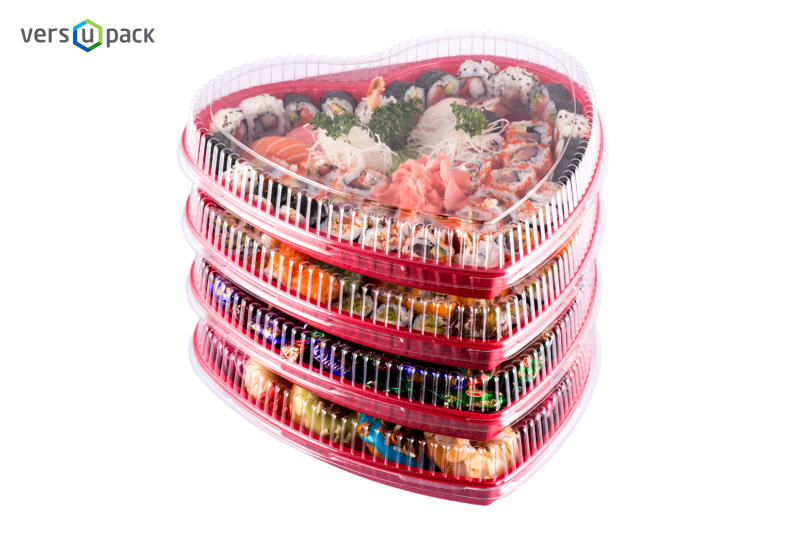Valentine's Day Heart Shaped Take-Out Sushi Platters