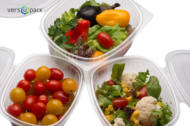 Crystal Clear Deli Containers with Hinged-Lid