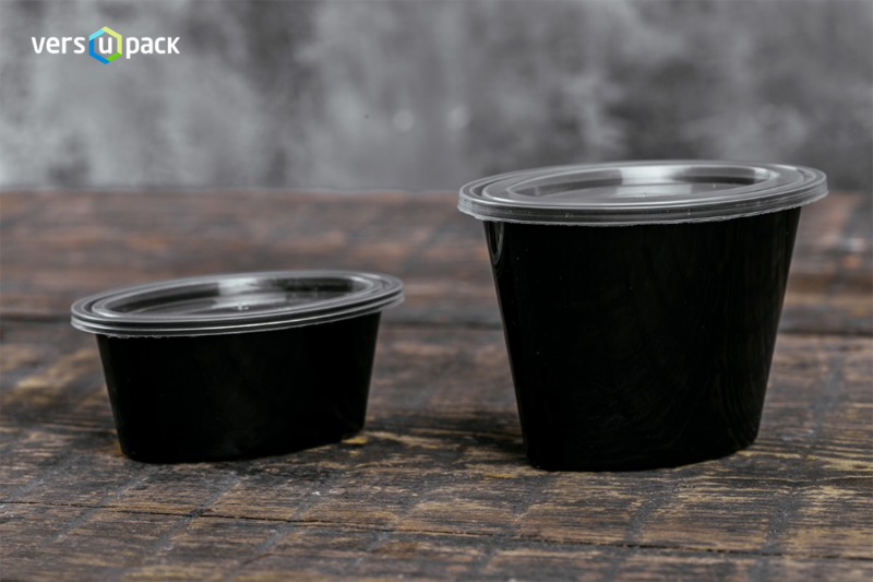 Disposable black portion cups