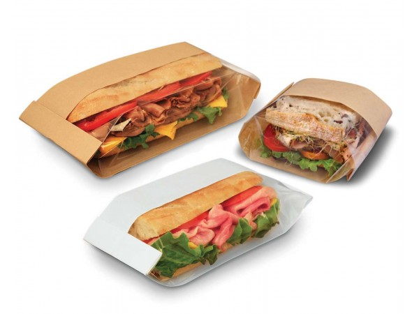 Paper bags with window for sandwiches